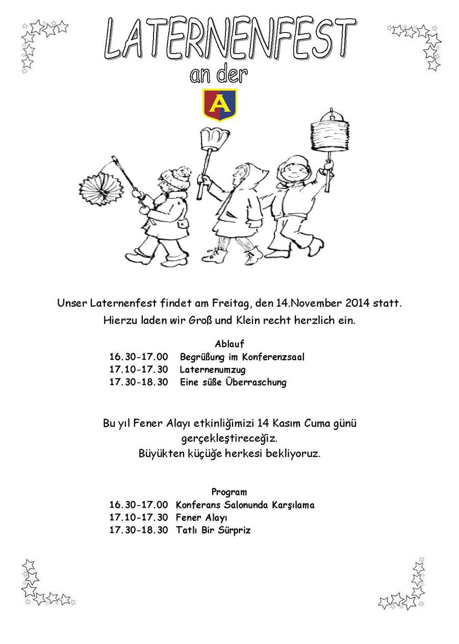 Fener Alayı etkinliği (Einladung zum Laternenfest)