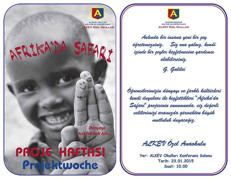 Anaokulu Afrikada Safari Projesi