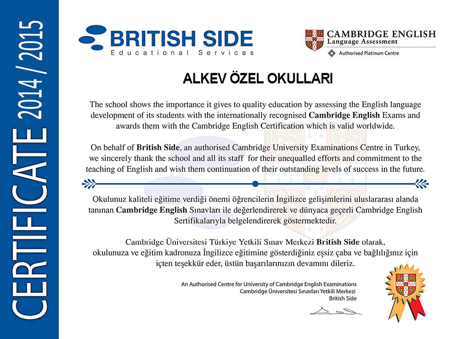 Cambridge English Certification