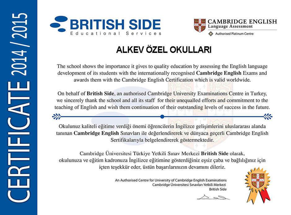 Cambridge English Certification