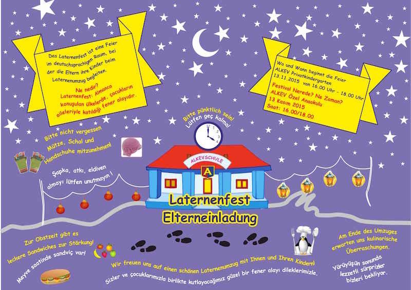 13.11.2015 Laternenfest Kindergarten / Anaokulunda Fener Festivali