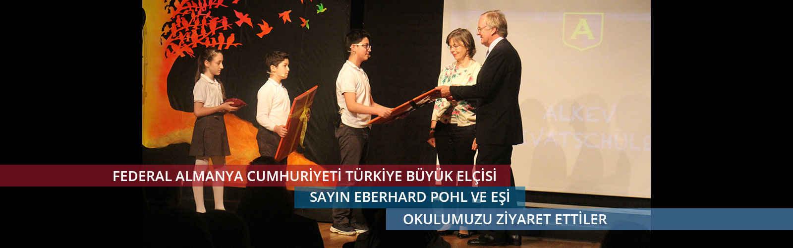 Almanya Cumhuriyeti Türkiye Büyük Elçisi Sayın Eberhard Pohl ve eşi okulumuzu ziyaret ettiler