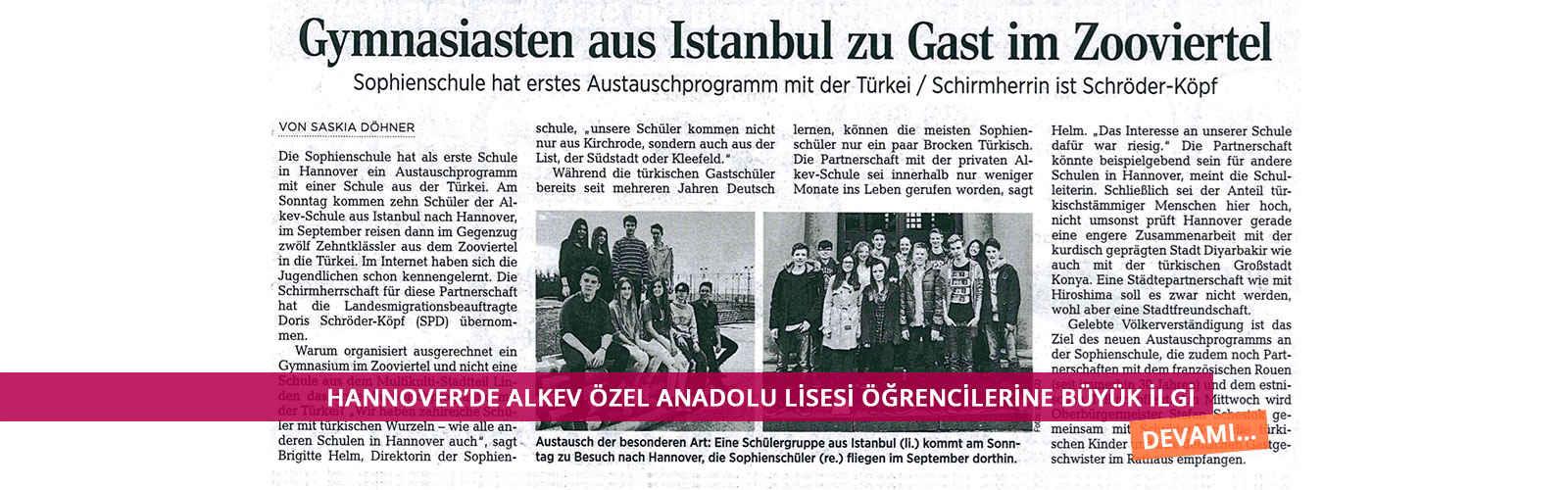 Hannover'de ALKEV Özel Anadolu Lisesi Öğrencilerine Büyük İlgi