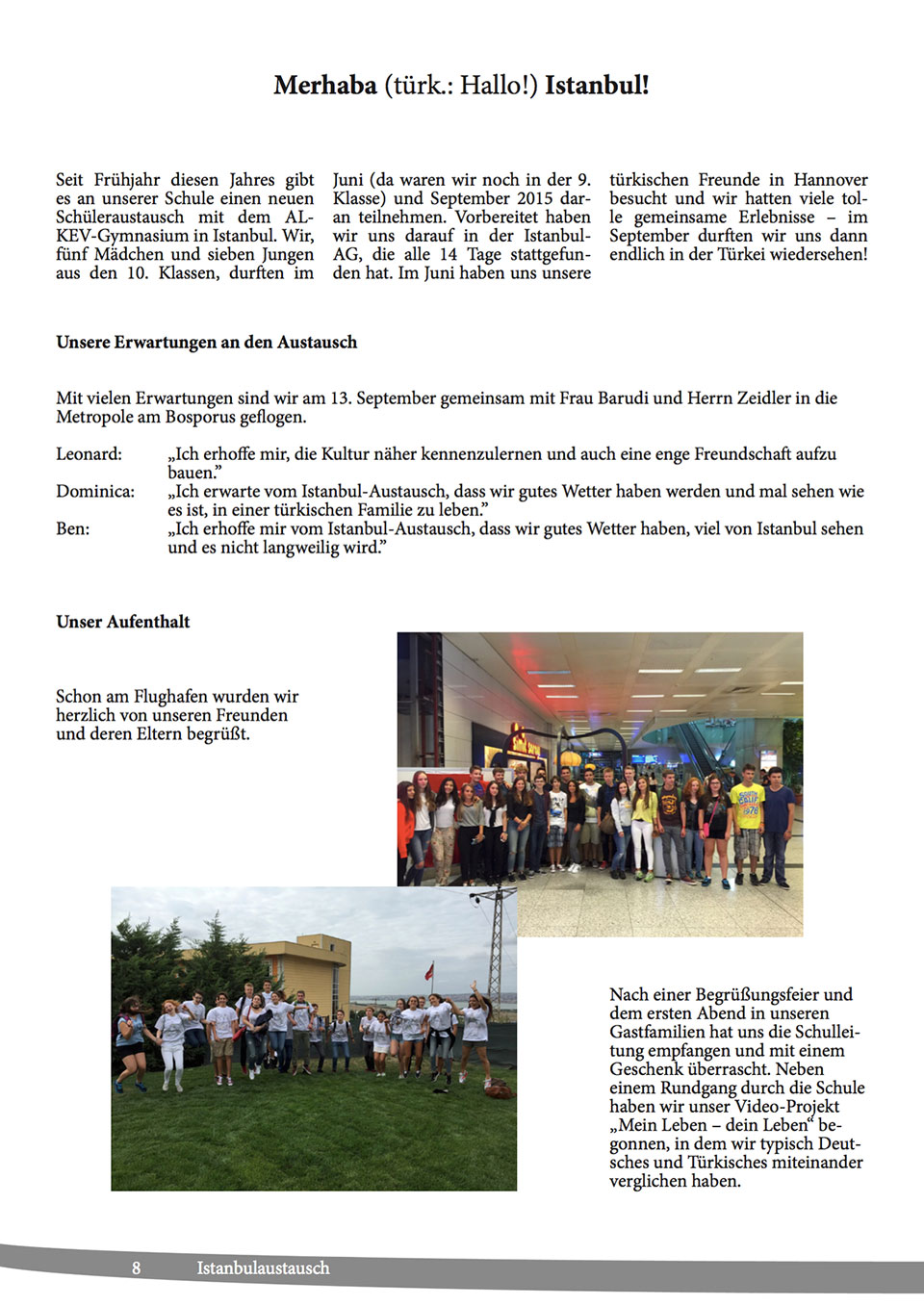 Sophienschule Götterbote Schülerzeitung Yayını