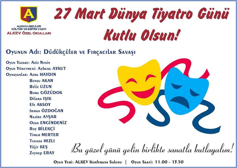 25 Mart – İlkokul Drama Kulübü Tiyatro Gösterisi