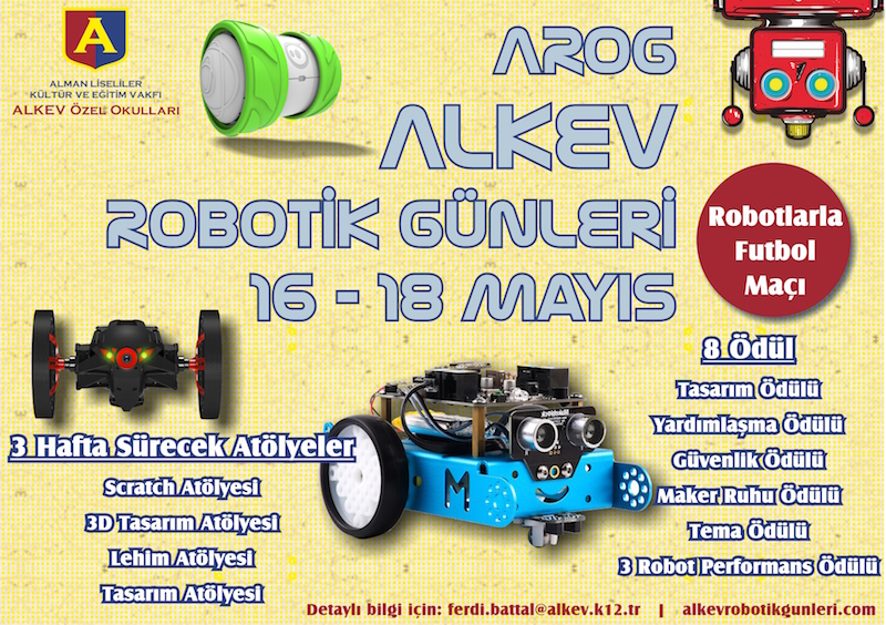 16-18 Mayıs ALKEV Robotik Günleri