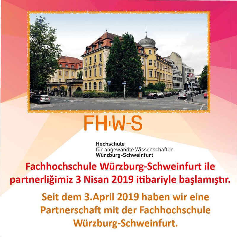 Hochschule für angewandte Wissenschaften Würzburg-Schweinfurt (FHWS) Partnerliği