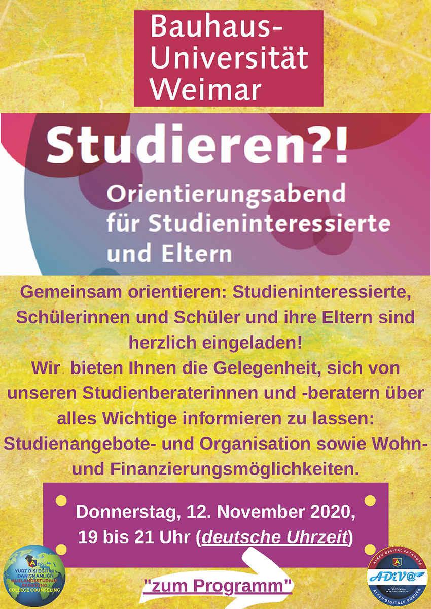Bauhaus-Universität Weimar Orientierunsabend