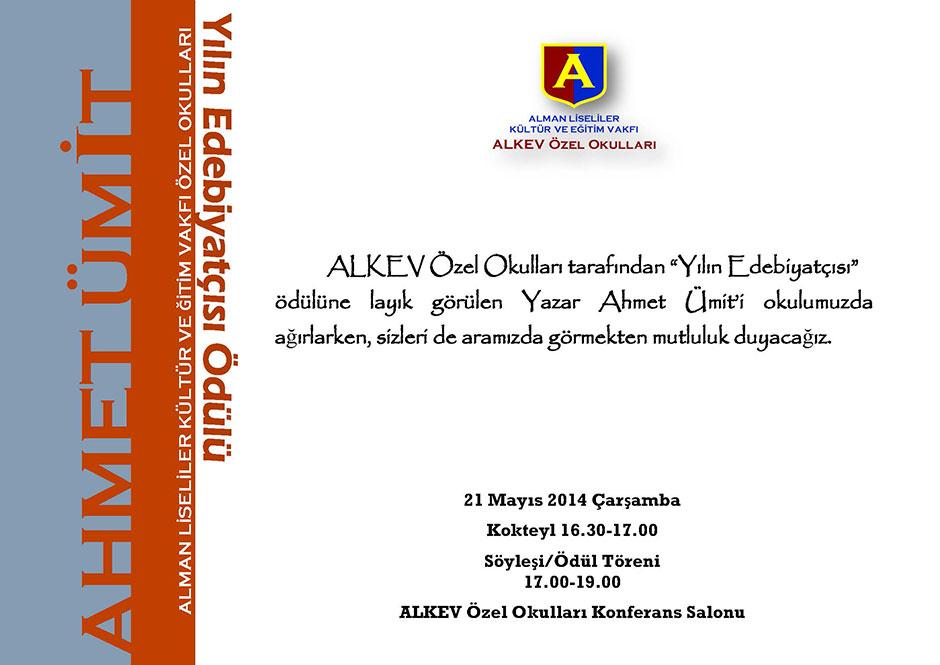 Ahmet Ümit ALKEV Özel Okulları'nda