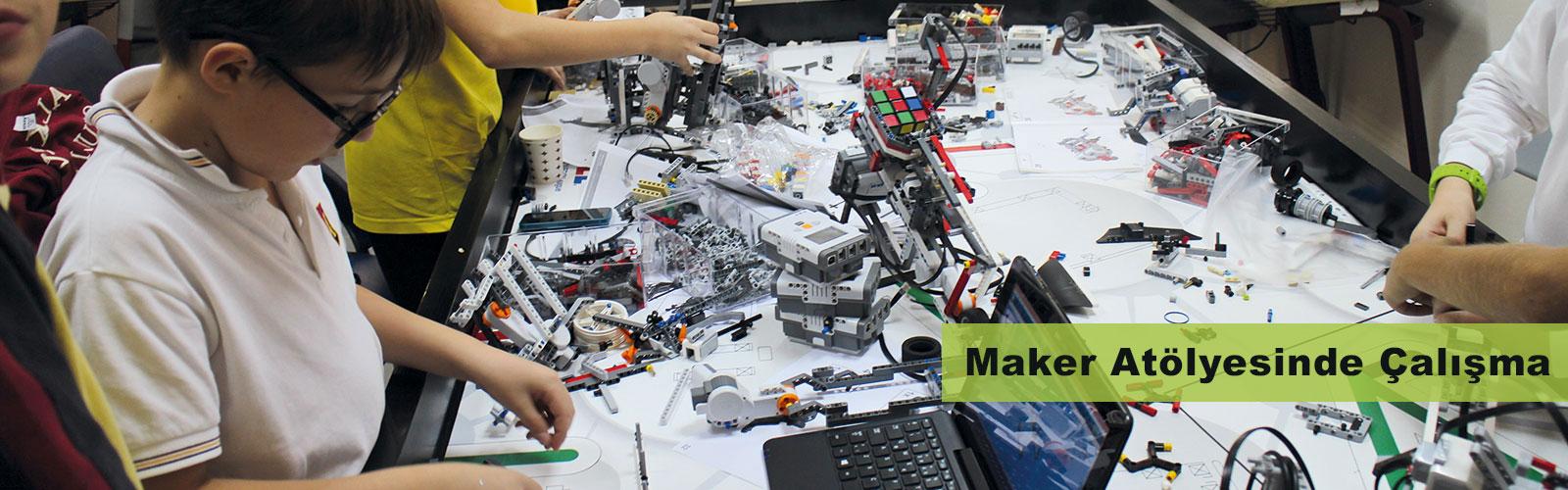 Maker atölyesinde çalışma